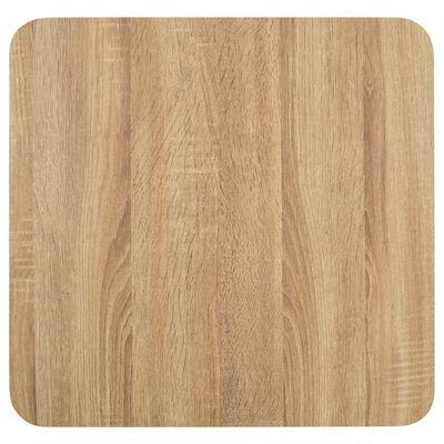 vidaXL Bistro staliukas, šviesiai rudos spalvos, 50x50cm, MDF