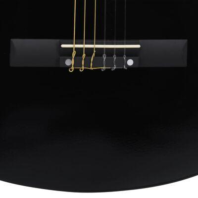 """vidaXL Klasikinė gitara pradedantiesiems ir vaikams, juoda, 3/4 36"""""""