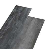 vidaXL Grindų plokštės, blizgi pilka, PVC, prilipdomos, 5,02m², 2mm