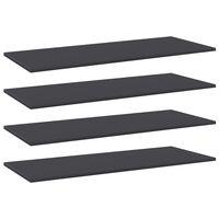 vidaXL Knygų lentynos plokštės, 4vnt., pilkos, 100x40x1,5cm, MDP