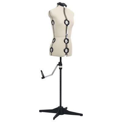 vidaXL Reguliuojamas manekenas, kreminis, moteriškas, S/33-40 dydžio