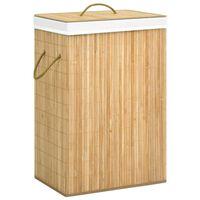 vidaXL Skalbinių krepšys, bambukas, 72l