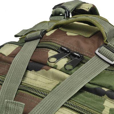 vidaXL Militaristinio stiliaus kuprinė, 50l, kamufliažo spalvos