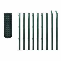 vidaXL Euro tvora, žalia, 10x0,8m, plienas