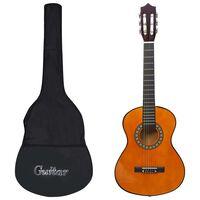 """vidaXL Klasikinė gitara su dėklu pradedantiesiems ir vaikams, 1/2 34"""""""