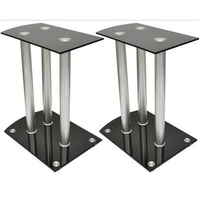 2 Stovai Garso Kolonėlėms iš Aliuminio ir Juodo Stiklo