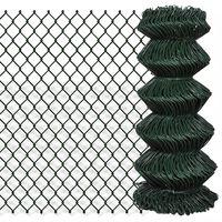 vidaXL Tinklinė tvora, žalia, 0,8x15m, plienas