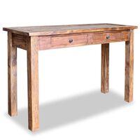 vidaXL Konsolinis staliukas, masyvi perdirbta mediena, 123x42x75cm
