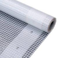 vidaXL Leno tentas, baltas, 4x15 m, 260 g/m²
