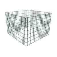 vidaXL Komposto dėžė, tinkl., 100x100x70cm, kvadrato formos