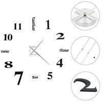 vidaXL Sieninis laikrodis, juodas, 100cm, modernus dizainas, 3D, XXL