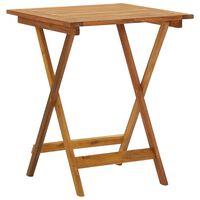 vidaXL Sulankstomas sodo stalas, 60x60x75cm, akacijos medienos masyvas
