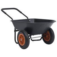 vidaXL Karutis, juodos ir oranžinės spalvos, 78l, 100kg