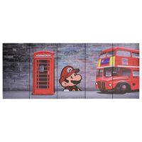vidaXL Paveikslas ant drobės, įvairių spalvų, 150x60cm, Londonas