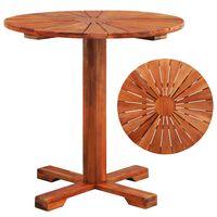 vidaXL Baro stalas, 70x70cm, akacijos medienos masyvas