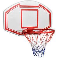 vidaXL Prie sienos montuojamas krepšinio lentos kompl., 3 d., 90x60cm