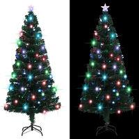 vidaXL Dirbtinė kalėdinė eglutė su stovu, LED, 180cm, 220 šakų