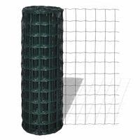 vidaXL Euro tvoros komplektas, žalias, 10x0,8m, plienas