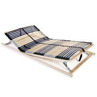 vidaXL Grotelės lovai su 42 lentjuostėmis, 7 zonos, 120x200cm