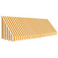 vidaXL Bistro markizė, oranžinės ir baltos spalvos, 400x120cm