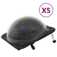 vidaXL Baseino šildytuvai, 5vnt., 75x75x36cm HDPE ir aliuminis