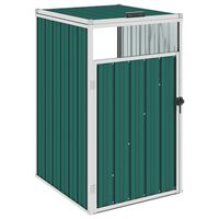 vidaXL Konteinerio stoginė, žalios spalvos, 72x81x121cm, plienas