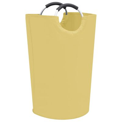 vidaXL Skalbinių rūšiavimo krepšiai, 2vnt., kreminės spalvos