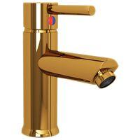 vidaXL Vonios kambario praustuvo maišytuvas, auksinis, 130x176mm