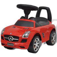 Mercedes Benz Vaikiškas Automobilis Paspirtukas, Raudonas