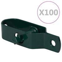 vidaXL Tvoros vielos įtempikliai, 100vnt., žali, plienas, 100mm