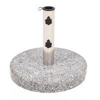 vidaXL Skėčio stovas, granitas, apvalus, 22kg