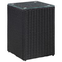 vidaXL Šoninis staliukas, juodas, 35x35x52cm, poliratanas