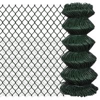 vidaXL Tinklinė tvora, žalia, 0,8x25m, plienas