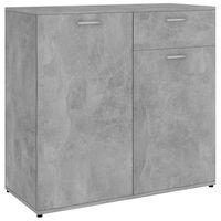 vidaXL Šoninė spintelė, betono pilkos spalvos, 80x36x75cm, MDP