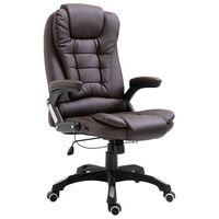 vidaXL Biuro kėdė, ruda, dirbtinė oda