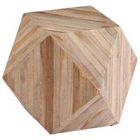 vidaXL Šoninis staliukas, 40x40x40 cm, perdirbtas tikmedis