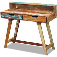 vidaXL Perdirbtos medienos rašomasis stalas