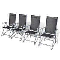 vidaXL Sulankstomos sodo kėdės, 4vnt., aliuminis