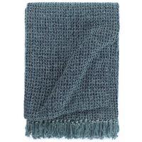 vidaXL Pledas, indigo mėlynos spalvos, 125x150cm, medvilnė