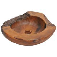 vidaXL Praustuvas, tikmedžio medienos masyvas, 45 cm