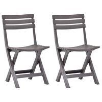 vidaXL Sulankstomos sodo kėdės, 2vnt., moka spalvos, plastikas