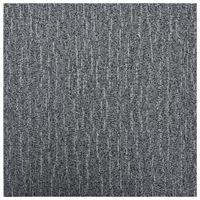 vidaXL Grindų plokštės, pilkos spalvos, 5,11m², PVC, prilipdomos