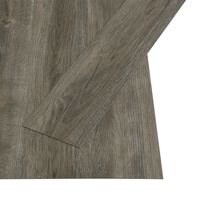 vidaXL Grindų plokštės, pilk. ir rud. sp., 4,46m², 3mm, PVC, prilipd.