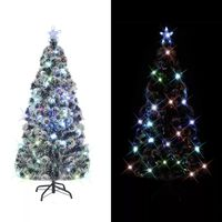 vidaXL Dirbtinė kalėdinė eglutė su stovu, LED, 180 cm