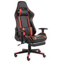 vidaXL Pasukama žaidimų kėdė su pakoja, raudonos spalvos, PVC