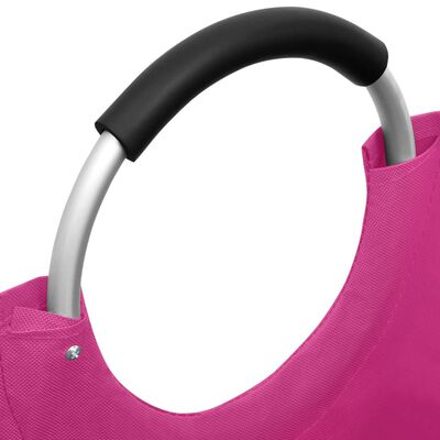 vidaXL Skalbinių rūšiavimo krepšiai, 2vnt., rožinės spalvos