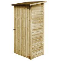 vidaXL Pašiūrė sodo įrankiams, 88x76x175cm, impregnuota pušies mediena