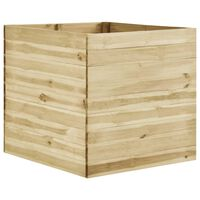 vidaXL Sodo lovelis, 100x100x97cm, impregnuota pušies mediena, aukštas