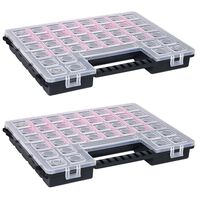 vidaXL Asortimentinės dėžutės, 2vnt., 385x283x50mm, plastikas