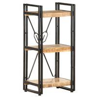 vidaXL Knygų spinta, 3 aukštų, 40x30x80cm, mango medienos masyvas
